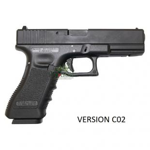 PISTOLA KP 17 Glock CO2 KJ Works Negra
